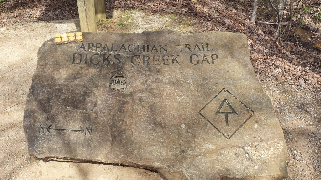 Dicks Creek Gap sign