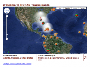 NORAD tracks Santa in Atlanta
